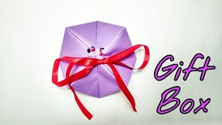 How to Make Gif Box Out Of Paper - Easy Paper Box tutorial