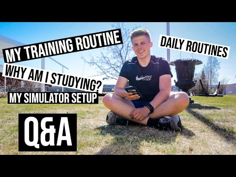 Q&A - MY TRAINING, MY SIMULATOR AND WHY AM I STUDYING? | VLOG 37