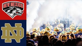 New Mexico vs #7 Notre Dame Highlights | NCAAF Week 3 | College Football Highlights