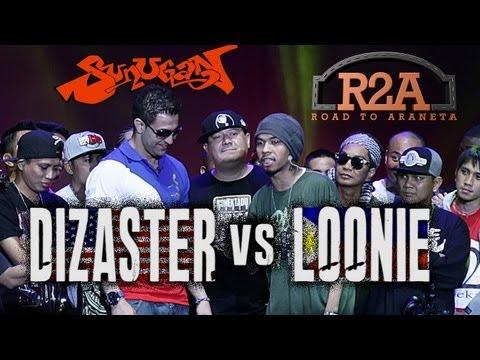 Sunugan - Loonie vs. Dizaster (Official Battle)