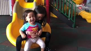 Sakura Chan main di Playground sama Kakak Zara Cute dan Little Kenzo