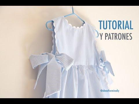 Costura y patrones de vestido para niñas (gratis hasta talla 9 años)