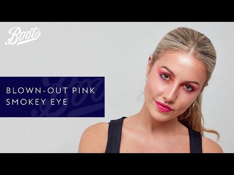 boots.com & Boots Voucher Code video: Blown-out pink smokey eye shadow