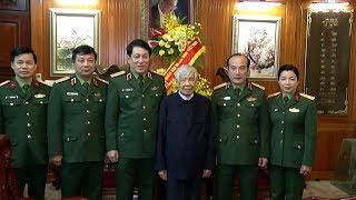 Tổng cục Chính trị đến thăm và chúc mừng sinh nhật nguyên Tổng Bí thư Lê Khả Phiêu