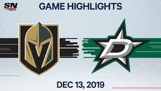 NHL Highlights | Golden Knights vs. Stars - Dec. 13, 2019
