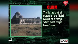 Fact Check: Is this real photo of Babri Masjid?..