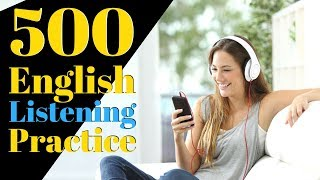 500 English Listening Practice 😀 Learn English Useful Conversation Phrases - YouTube