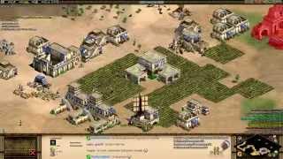 Aoe2 HD Stream: 4v4 Arabia (Byzantines, Archer Flush)