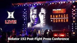 Bellator 192: Rampage vs Sonnen / Lima vs MacDonald Post-Fight Press Conference (LIVE!)