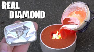 Casting REAL Diamond YouTube Play Button