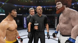 "UFC BRUCE LEE vs. JACK GIANT STINKY "" KNOCK OUT THE STINKY GIANT !! """