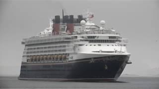 Cruise Ship DISNEY MAGIC arrives in Vigo [4K]