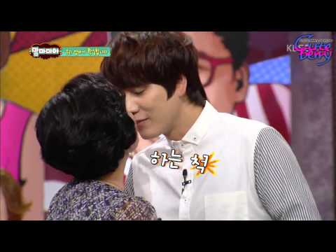 [HD] 130908 KYUHYUN - Kiss & Waltz with his mom