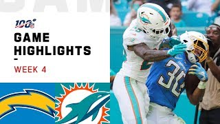 Chargers vs. Dolphins Week 4 Highlights | NFL 2019