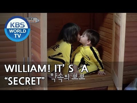 WILLIAM and TAERA eat chocolate in secret. shh♥  [The Return of Superman/2018.05.06]