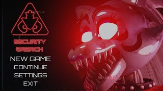FIVE NIGHTS AT FREDDY'S Security Breach Menu FANMADE V8 NIGHT 6 ⚠