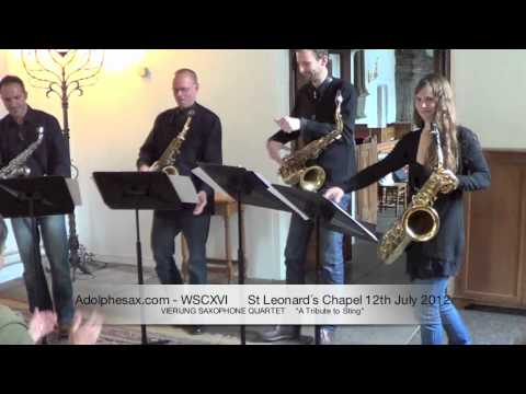 WSCXVI VIERUNG SAXOPHONE QUARTET     A Tribute to Sting