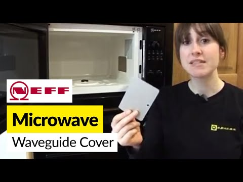 How To Replace A Waveguide Cover On A Neff Microwave Youtube