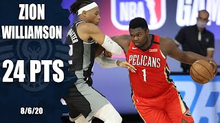 Zion Williamson goes 10-for-12 vs. Kings [HIGHLIGHTS] | 2019-20 NBA Highlights
