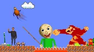 Baldi VS Donkey kong And Super Mario