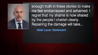 Matt Lauer apologizes for sexually inappropriate behavior that cost him his job