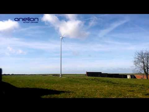 Aerogenerador minieólico trifásico conectado a red en Francia: Anelion SW3.5-GT3