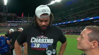 Kenley Jansen Postgame Interview | Dodgers vs Braves NLDS Game 4