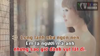 [Karaoke] Ngọn nến trước gió - Emily