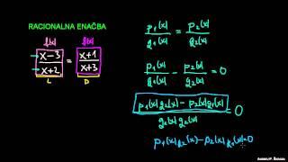 Kaj je racionalna enačba?