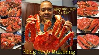 Cua Hoàng Đế Khủng! - Whole King Crab Mukbang