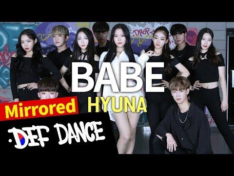 [댄스학원 No.1] HyunA (현아) - BABE (베베) DANCE KPOP COVER (Mirror Mode) / 데프수강생 월말평가 방송댄스 안무 가수오디션 정보 실용음악