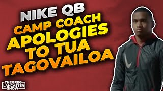 Nike QB Camp Coach Apologies to Tua Tagovailoa