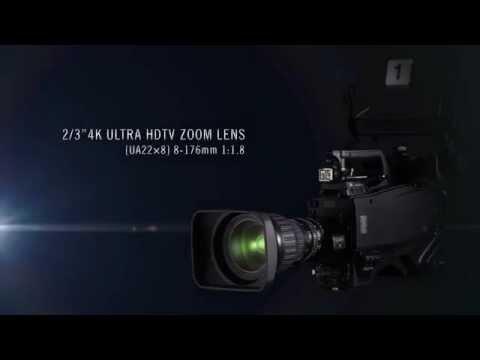 Fujinon UA22x8 2/3 U-HDTV broadcast zoom 4K lens