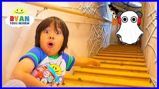 Ryan Exploring our secret spooky attic!!! What's Inside???
