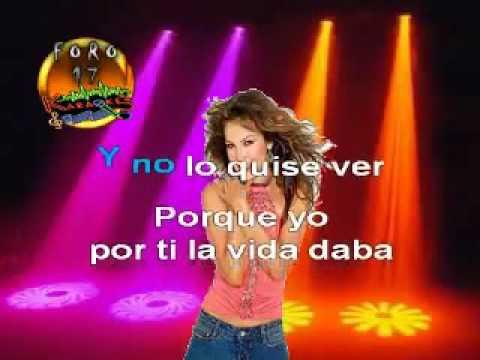 Thalia Equivocada karaoke