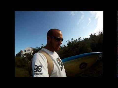 GO PRO HD Hero: JAY AKA RON DIXON POST-HURRICANE IRENE SURFING BRIGANTINE JETTY BEACH 2011