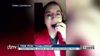 Teens appear to eat Tide Pods as part of social media challenge