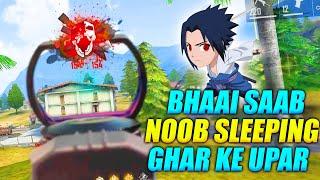 OMG !! Campers Sleeping Ghar Ke Upar Bhai Saab | Amazing Duo Gameplay | Garena Free Fire - PK GAMERS