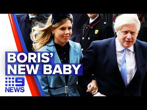 Boris Johnson welcomes new baby son | Nine News Australia