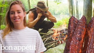 Pro Chef Tries Survival Cooking for the First Time | Bon Appétit
