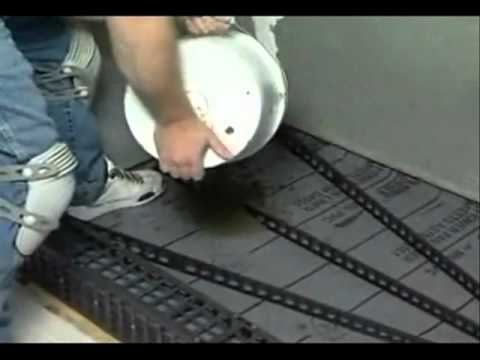Shower Floor Mud Forming Device Video 1 Videomoviles