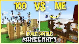 I Challenged 100 Players to a Build Battle in Minecraft!