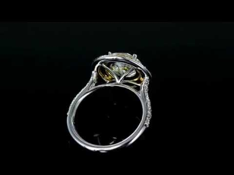 Browns Family Jewellers Yellow Sapphire Halo Ring