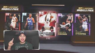 NBA 2K19 MyTeam PINK DIAMOND SHAQ & new PORZINGOD in packs!