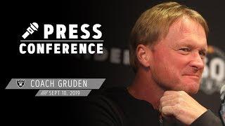 Coach Gruden recaps Week 1, discusses facing Chiefs   Raiders
