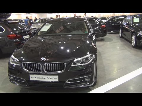 BMW 520d xDrive Sedan Black Sapphire (2015) Exterior and Interior in 3D