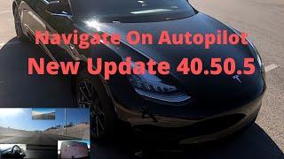 Tesla Model 3 |  New Update | 40.50.5 | Navigate On Autopilot