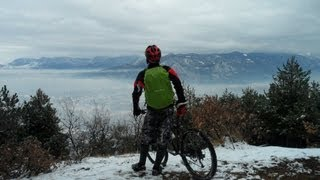 Into the mountains - cycling in the snow