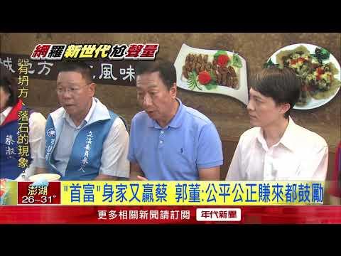 蟬聯台灣首富! 郭台銘身家1980億擠掉蔡衍明
