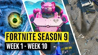 Fortnite | All Season 9 Story Updates and Map Secrets! (Watch before the Live Event)